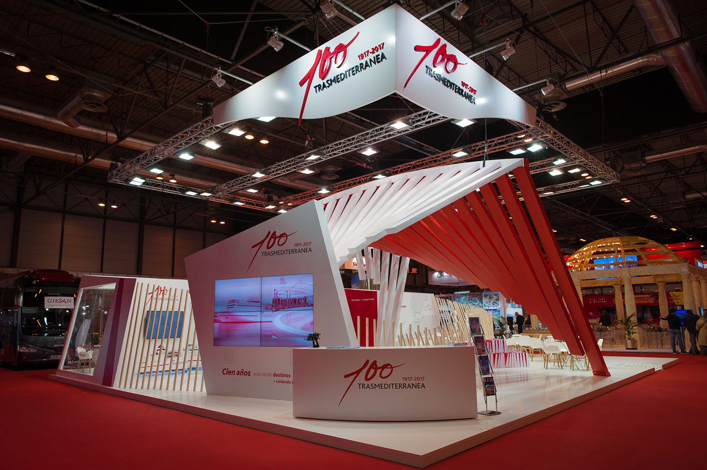 Trasmediterr nea s stand at fitur created by acciona producciones y dise o has been awarded - Stand de diseno ...